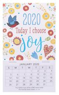 2020 Mini Magnetic Calendar: Today I Choose Joy Calendar