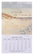 2020 Mini Magnetic Calendar: Footprints Calendar