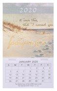 2020 Mini Magnetic Calendar: Footprints Calendar