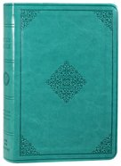 ESV Value Large Print Compact Bible Teal Ornament Design (Black Letter Edition) Imitation Leather