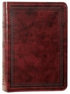 ESV Value Large Print Compact Bible Mahogany Border Design (Black Letter Edition) Imitation Leather