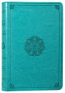 ESV Large Print Value Thinline Bible Turquoise Emblem Design Imitation Leather