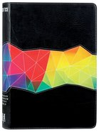 NIV Rainbow Study Bible Kaleidoscope Black Imitation Leather