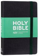 NIV Thinline Bible Black With Elastic Strap Hardback