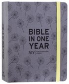 NIV Journalling Bible in One Year Grey Fabric With Elastic Closure Hardback