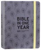 NIV Journalling Bible in One Year Grey Fabric With Elastic Closure Hardback