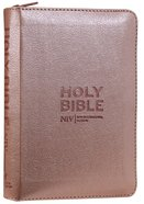 NIV Pocket Bible Rose Gold With Zip Flexi Back