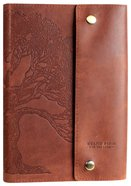 Journal: Genuine Leather With Button Closure, Faith Can Move Mountains Genuine Leather