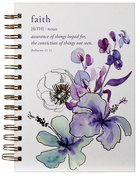 Journal: Faith, Blue Flowers (Hebrews 11:1) Spiral