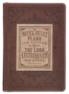 Classic Journal: Man's Heart, a Brown, Zippered (Prov 16:9) (A Man's Heart Collection) Imitation Leather