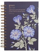 Journal: Grace, Navy Floral Spiral
