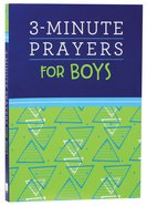 3-Minute Prayers For Boys Paperback