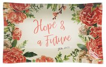 Ceramic Trinket Tray: Hope & a Future, Pink Floral (Jeremiah 29:11)