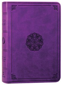 ESV Value Large Print Compact Bible Lavender Emblem Design (Black Letter Edition)