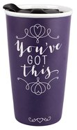 Ceramic Tumbler Mug: Affirmed You've Got This, Burgundy/White (Matthew 19:26) Homeware
