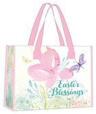 Tote Bag: Easter Blessings, Pink Floral Watercolors Soft Goods