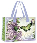 Tote Bag: Easter Blessings, Green Butterfly/Purple Lavender