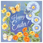 Easter Napkins: Happy Easter! Flowers With Butterflies
