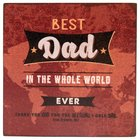 Best Dad in the Word Magnet: Scripture From Proverbs 20:7 Novelty