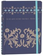 Journal W/Elastic Closure: Proverbs 31, Blue/Pale Yellow Imitation Leather