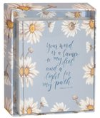 Gracelaced Boxed Cards: Your Word is a Lamp, Blue Floral Box