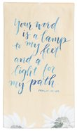 Gracelaced Cotton Tea Towel: Your Word is a Lamp, Yellow Floral Homeware