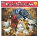 Advent Calendar: Emmanuel, Glitter, Bible Text Or Nativity Story on Back of Windows Calendar