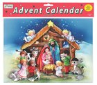 Advent Calendar: The Crib, Glitter, Bible Text Or Nativity Story on Back of Windows Calendar