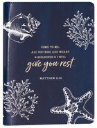 Journal: Give You Rest Collection Navy/White, Slimline (Matthew 11:28) Imitation Leather