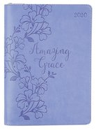 2020 Executive 12-Month Diary/Planner: Amazing Grace, Purple/Embossed Floral Design Imitation Leather