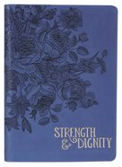 Zippered Journal: Strength & Dignity, Navy Imitation Leather