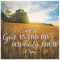Ceramic Trivet: Give Us This Day Our Daily Bread, Field Scene