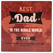 Best Dad in the Word Magnet: Scripture From Proverbs 20:7