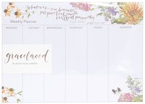 Gracelaced Weekly Planner: Whatever is True, White/Country Floral