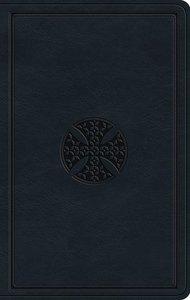 ESV Large Print Value Thinline Bible Navy Mosaic Cross Design (Black Letter Edition)