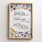 Framed Wall Art: May the Lord Bless You and Protect You... (Numbers 6:24-26) Plaque