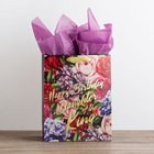 Gift Bag Large: Happy Birthday, Daughter of the King, Floral (Incl Two Sheets Tissue Paper & Gift Tag) Stationery