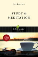 Study and Meditation (Lifeguide Bible Study Series) eBook
