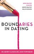 Boundaries in Dating (Unabridged, Mp3) CD