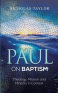 Paul on Baptism eBook