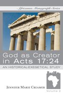 God as Creator in Acts 17: 24 eBook