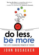 Do Less, Be More eBook