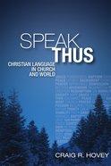 Speak Thus eBook