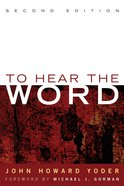 To Hear the Word - Second Edition eBook