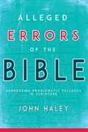 Alleged Errors of the Bible eBook