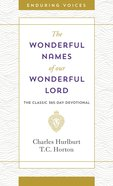 Wonderful Names of Our Wonderful Lord eBook