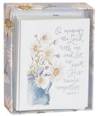 Gracelaced Boxed Cards: Magnify the Lord, White/Sunflowers in Blue Vase Box