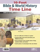10-Foot Bible & World History Time Line Chart/card