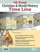 10-Foot Christian & World History Time Line Chart/card