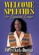 Welcome Speeches For Special Days Paperback